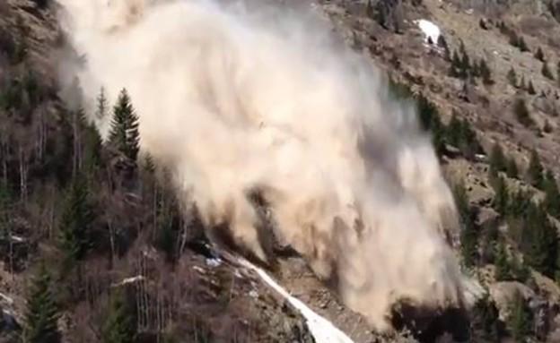 מפולת שלגים בהרי האלפים
