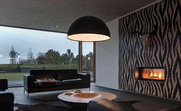 בלגיה בית ונוי, סלון (צילום: MASSIV-PASSIV.LU)