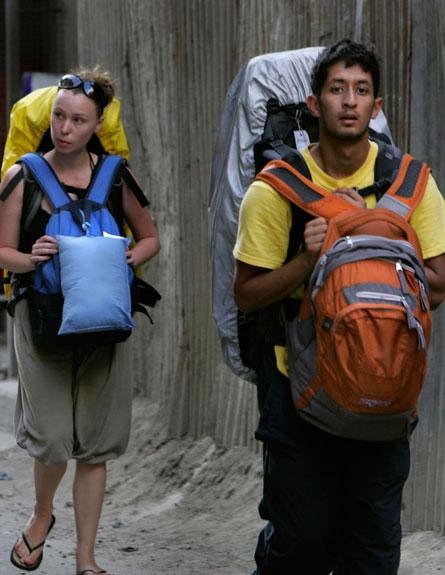 מטיילים בנפאל (צילום: AP)