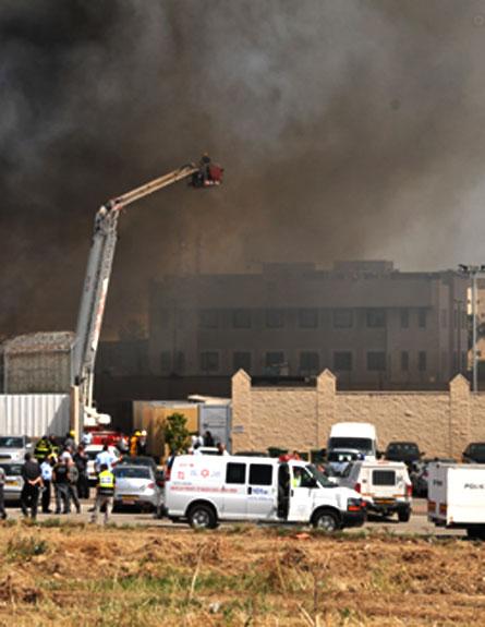 שריפה בכלא מעשיהו (צילום: חדשות 2)