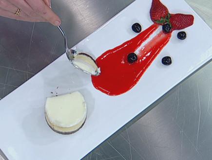 עוגת גבינה עם דובדבני אמרנה (תמונת AVI: mako)