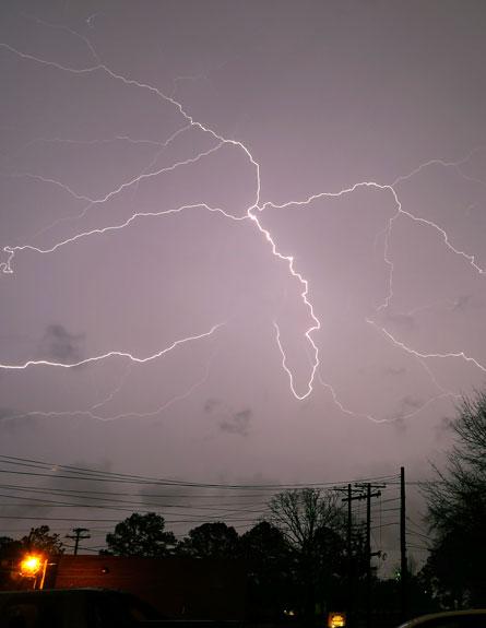 סופת ברקים בטקסס (צילום: חדשות 2)