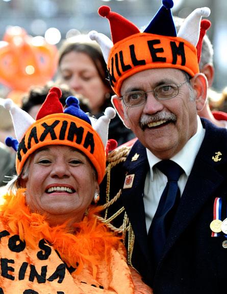 החגיגות בהולנד (צילום: רויתרס)