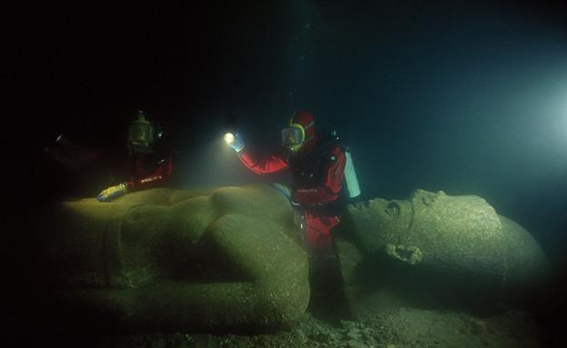 החפירות הארכיאולוגיות בהרקליון (צילום: franckgoddio.org)