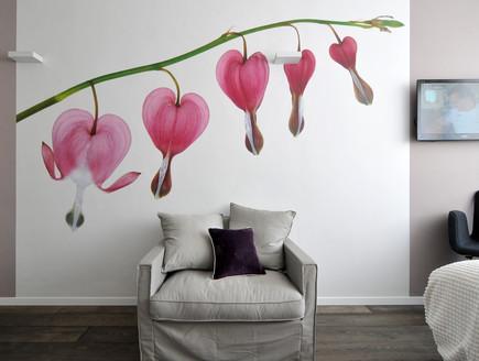 בית בשרון, חדר שינה קיר פרחים