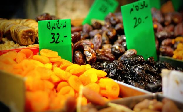 פירות יבשים, שוק מחנה יהודה (צילום: יורם אמיר,  יחסי ציבור )