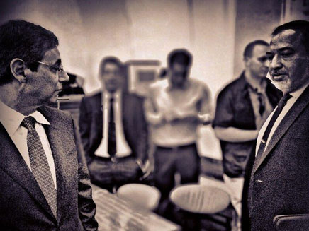 עימות בבית המשפט. אילון וליברמן באולם (צילום: צילום ועיבוד: יוסי זילברמן, חדשות 2)