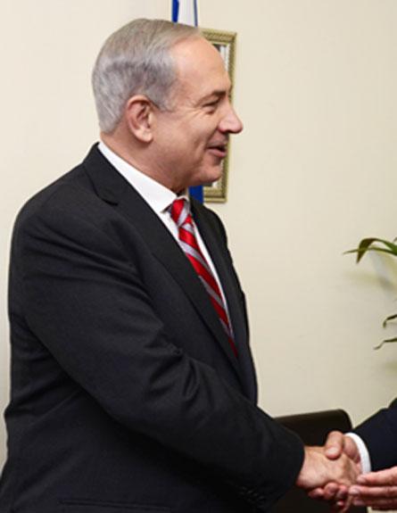 """נתניהו עם שר החוץ השוויצרי (צילום: לע""""מ/ משה מילנר)"""