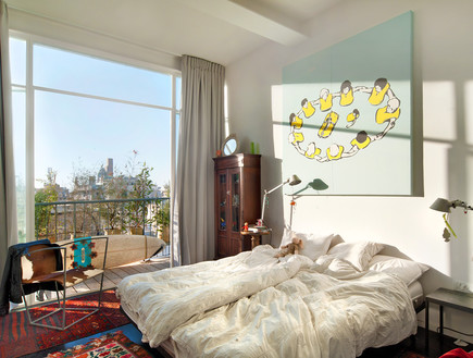 הבתים מבפנים, טשרניחובסקי חדר שינה, צילום עמרי אמס (צילום: עמרי אמסלם)
