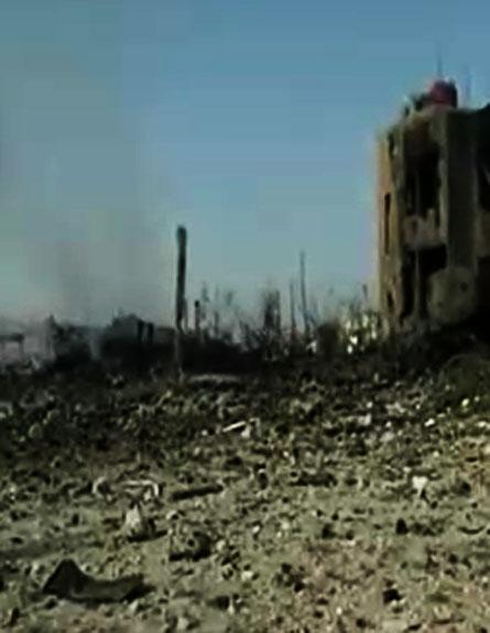 נזקי התקיפה בדמשק, ארכיון (צילום: חדשות 2)
