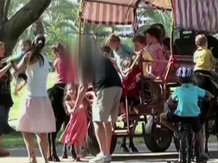 הילדים אולי נהנים, הסוסים פחות (צילום: חדשות 2)