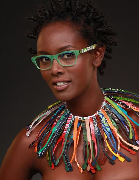 טהוניה רובל בקמפיין למשקפיים
