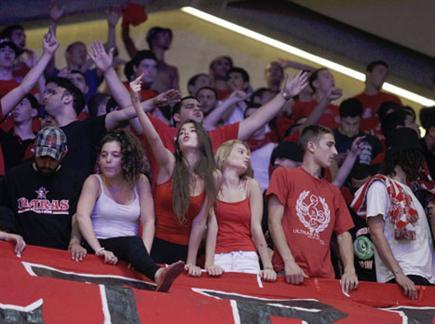 הקהל האדום. בלאט מוכן להם (אלן שיבר) (צילום: ספורט 5)