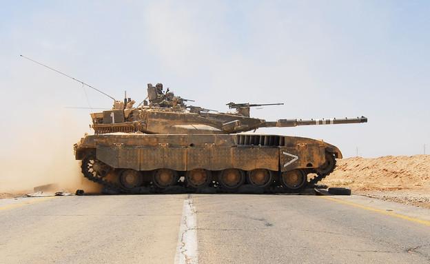 """תרגיל קציני שריון (צילום: דובר צה""""ל)"""