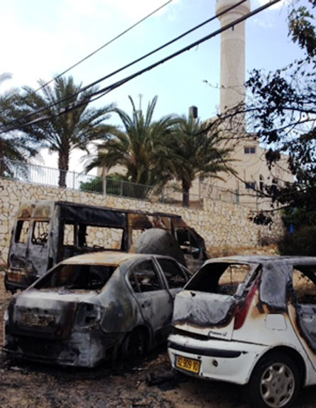 הרכבים שהוצתו בכפר, הבוקר (צילום: חדשות 2)