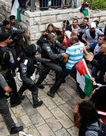 מהומות יום הנכבה (צילום: רויטרס)