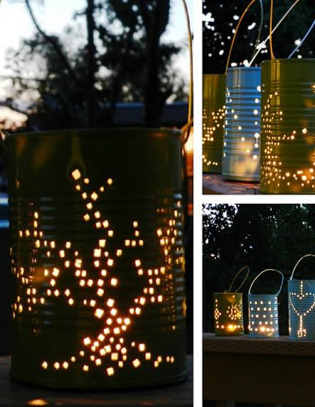 שדרוג גינה נרות חושך (צילום: lit lanterns)