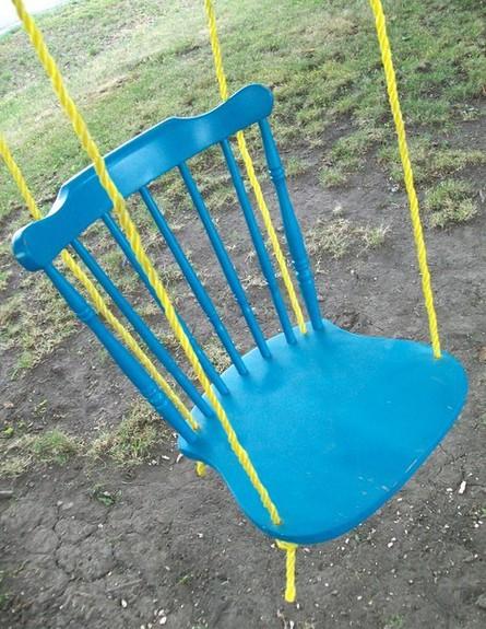 שדרוג גינה כיסא נדנדה (צילום: thisdiylife.wordpress)