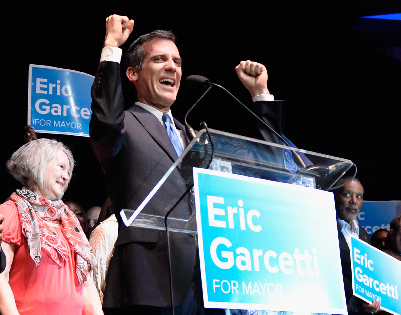 ראש עיירית לוס אנג'לס הנבחר אריק גארסטי (צילום: Kevork Djansezian, GettyImages IL)