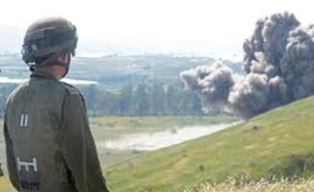 """פיצוץ מוקש (צילום: דובר צה""""ל)"""