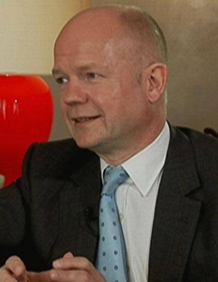 וויליאם הייג בראיון מיוחד לחדשות 2 (צילום: חדשות 2)