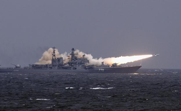 ספינת מלחמה רוסית (צילום: China Photos, GettyImages IL)