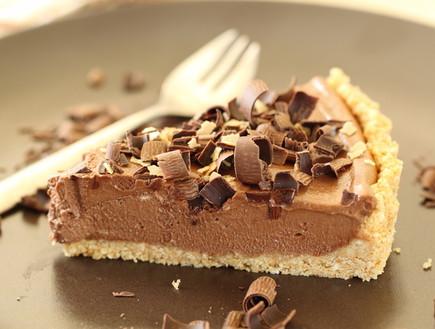 טארט מוס שוקולד ונוטלה - פרוסה