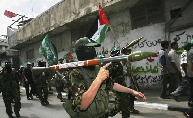 פעילי חמאס (צילום: Abid Katib, GettyImages IL)