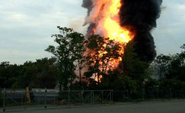 """זירת התאונה בארה""""ב (צילום: AP)"""