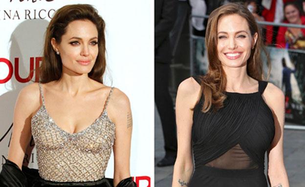 אנג'לינה ג'ולי - לפני ואחרי הניתוח