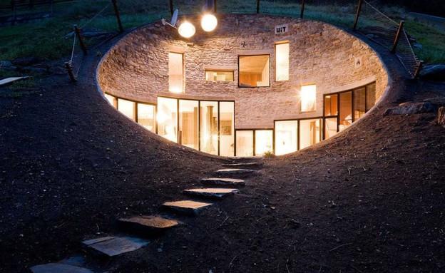 הוילה בתוך האדמה (צילום: lostateminor.com)