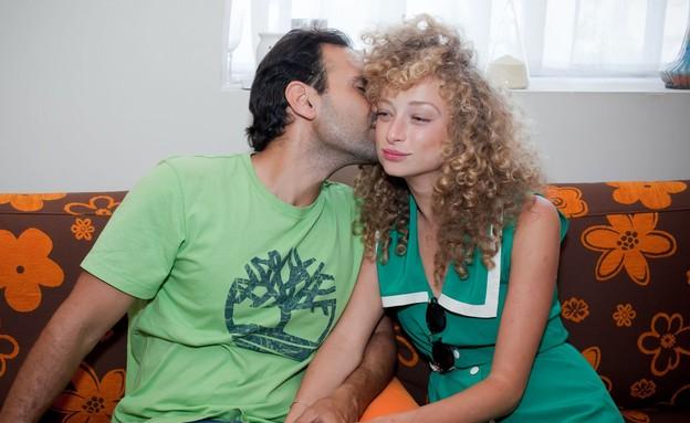 יוליה פלוטקין והארוס מבלים בזוגיות (צילום: צילום: אילן ספירא)