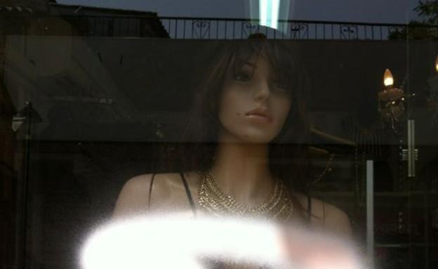 השחתת חלון ראווה (צילום: אורטל בן הרוש)