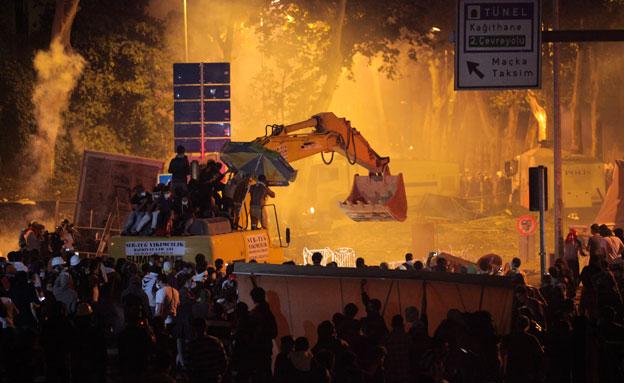 הפגנות, טורקיה (צילום: חדשות 2)