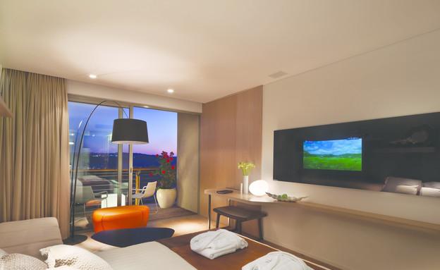 חדר, מלון כרמים (צילום: אסף פינצ'וק)