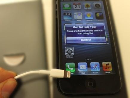 אייפון בטעינה