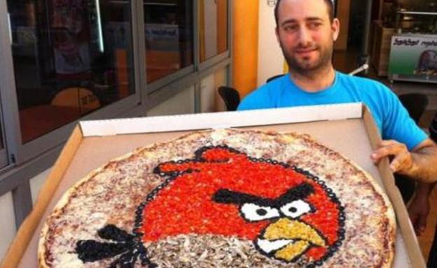 פיצה אנגרי בירד (צילום:  giantpizza.co.il)