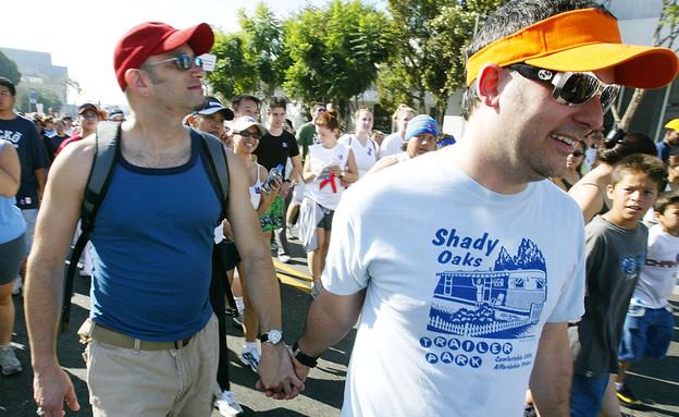 צעדת האיידס בלוס אנגל'ס (צילום: Carlo Allegri, GettyImages IL)