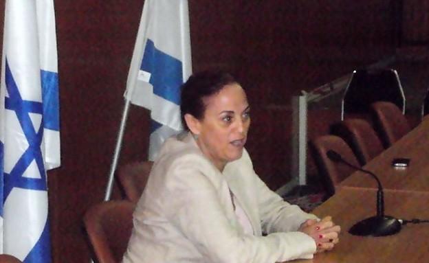 רות קלדרון במפגש בכנסת עם נוער גאה (צילום: דני זאק)