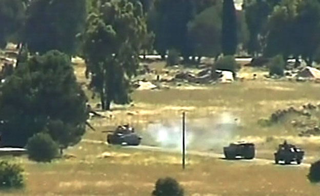 סוריה לחימה טנק צפון (צילום: חדשות 2)