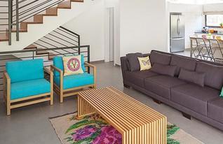 קרן אבני, סלון מדרגות בית ב (צילום: אלעד שריג)