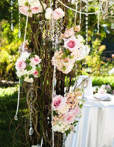 joyfulweddingsandevents חופות מעוצבות, פרחים ורודי (צילום: joyfulweddingsandevents)