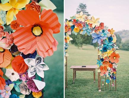 paper-flower-weddingחופות מעוצבות, פרחי נייר (צילום: paper-flower-wedding)