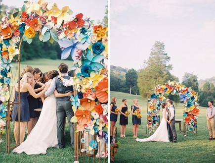 paper-flower-weddingחופות מעוצבות, פרחי נירר קולאז (צילום: paper-flower-wedding)