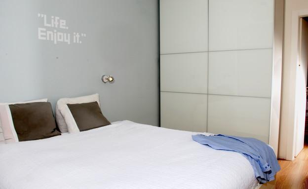 דירת 38 מטר, חדר שינה (צילום: מולי פלד)