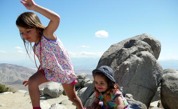 בנותיו של שי גל מטפסות (צילום: שי גל 2)
