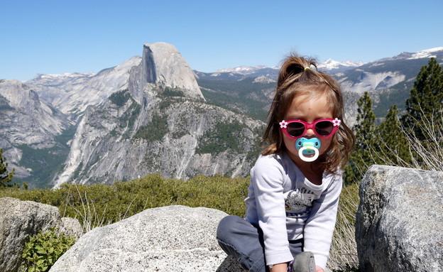 בתו של שי גל בהרים (צילום: שי גל 2)