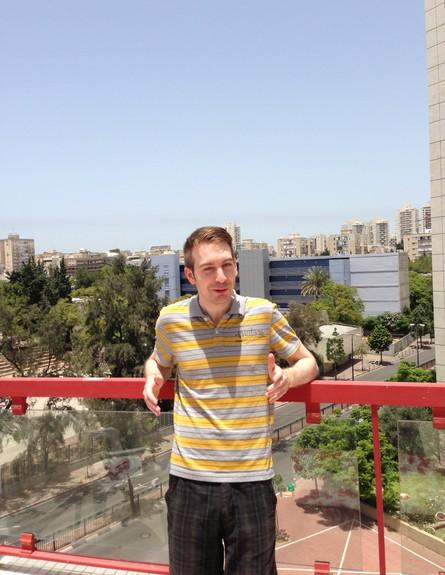 במרפסת, תייר מגרמניה