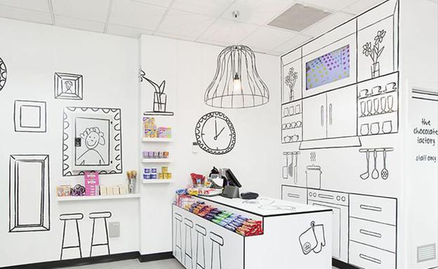 חנות שוקולד, רישומים (צילום: www.reddesigngroup.com )