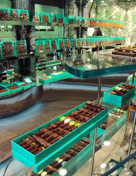 חנות שוקולד, ירוקה (צילום: chocolatewaterfalls.blogspot.com)